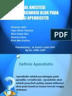 presentasi anastesi appendisitis
