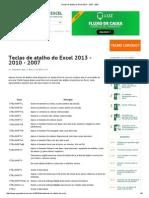 Teclas de Atalho Do Excel 2013 - 2010 - 2007