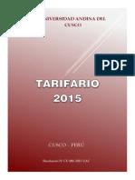 Tarifario Uac 2015