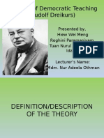 Theories of Democratic Teaching (Rudolf Dreikurs).pptx