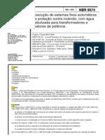 NBR 8674 - Execução de Sistemas Fixos Automáticos de Proteç