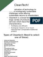 CleanTech!