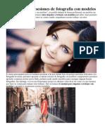 6 Consejos Hacer Sesiones de Fotografía Con Modelos