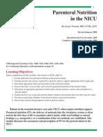 Parenteral Nutrition in NICU[1]