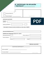 Form Solicitud Certificados
