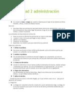 Guía Unidad 2 Administración