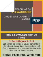 Bible Teaching - Time Stewardship