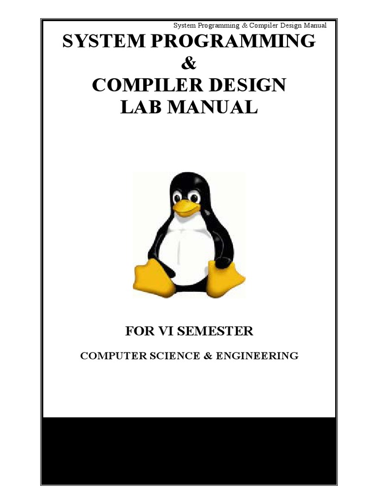 System Programming Compiler Design Lab Manual Parsing Command Line Interface