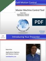 'EtherCAT as a Master Machine Control Tool' Galil Webinar