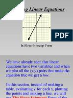 graph slope intercept