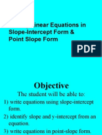 writingequations pointslope