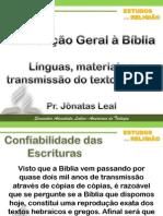 Introdução Geral à Bíblia - Pr. Jônatas Leal