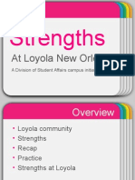 strengths, a student affairs initiative at loyola university new orleans