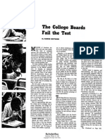Banesh Hoffmann - College Boards Fail the Test - 1965