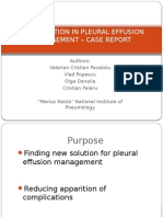 New Solution in Pleural Effusion Management – Case Report
