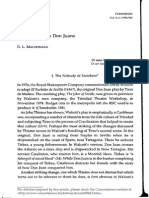 Sobre El Don Juan de Derek Walcott