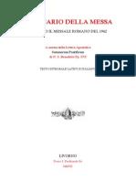 Ordo Missae Italiano Latin