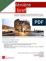 Briefing de plénière - Mars 2015