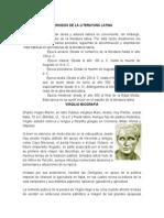 Periodos de La Literatura Latina