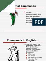 formal commands