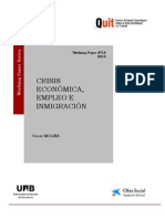 Crisis Económica Empleo e InmigraciónQUIT-UAB, 2010