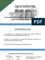 Evaporadores múltiple efecto