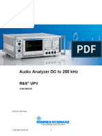 Rohde-Schwarz UPV Audio Analyzer Manual