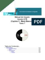 Manual Módulo Administrativo Tomo 6 (Menu Bancos)