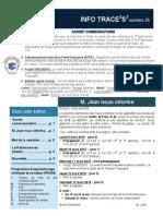 Info-TRACEESS Numéro 25, 9 Mars 2015
