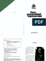 Para Sistematizar Experiencias- Oscar Jara