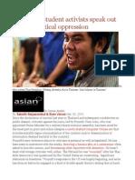 Thailand's Student Activists Speak Out Against Political Oppression