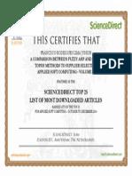 Top25 Certificate