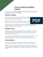 Written Versus Spoken English