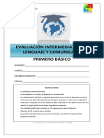1° BASICO LENGUAJE PRUEBA INTERMEDIA 2014