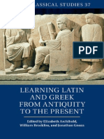Learning Latin and Greek