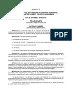 Ley de Hacienda Municipal