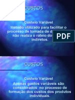CUSTEIO VARIAVEL