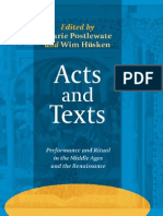 Laurie Postlewate, Wim Hüsken-Acts and Texts_ Performance and Ritual in the Middle Ages and the Renaissance. (Ludus Medieval and Early Renaissance Theatre and Drama)-Rodopi (2007).pdf