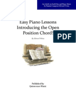 Easy Piano Lessons - Introducing the Open Position Chord!