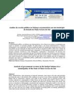 Análise da receita pública no balanço orçamentário em um município do Estado do Mato Grosso do Sul