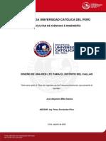 Tesis de Grado para Dimensionamiento de Red LTE en Peru