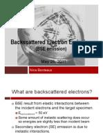 Backscattered Electron Emission