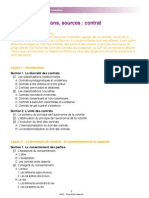 UNJF - Plan Droit Des Obligations Sources, Contrat