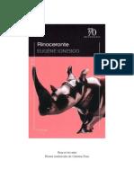 Ionesco, Eugene. Rinoceronte