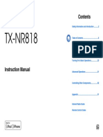Manual TX-NR818 English