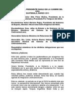 Discurso del Presidente Danilo Medina en la Cumbre del SICA-España 2015 en Guatemala
