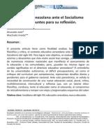 La Educación Venezolana Ante El Socialismo Del Siglo XXI