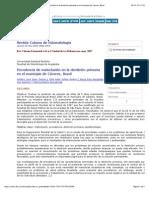 Revista Cubana de Estomatología - Prevalencia de Maloclusión en La Dentición Primaria en El Municipio de Cáceres, Brasil