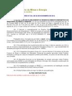 Portaria SPE n 334-2014