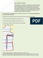 Patrón Básico Delantero de Blusa a Medida o Anatómico